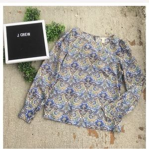 J. Crew Silk Talitha Top in Peacock Paisley, used for sale